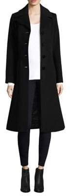 George Simonton Notch Collar Wool Coat