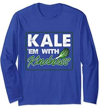 E.m. Kale 'Em with Kindness Funny Pun Tee Shirt for Vegans