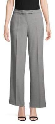 Kasper Stretch Flat-Front Pants