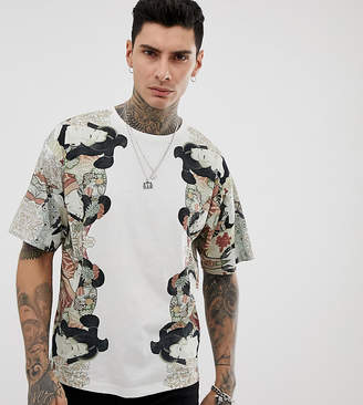 Heart N Dagger t-shirt with placement print in white