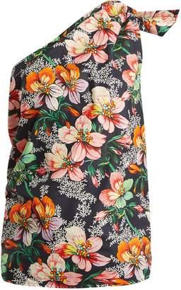 Isabel Marant Noor one-shoulder floral-print top