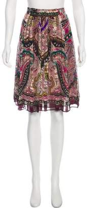 Etro Silk A-Line Skirt w/ Tags