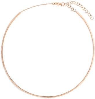 Diane Kordas Diamond & rose-gold Bar choker