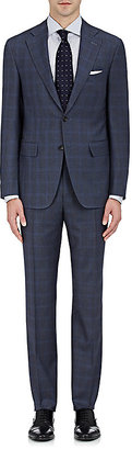 Canali Men's Windowpane Checked Wool Two-Button Suit $1,895 thestylecure.com