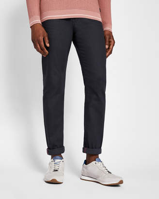 Ted Baker PRINTO Printed hem tapered fit jeans