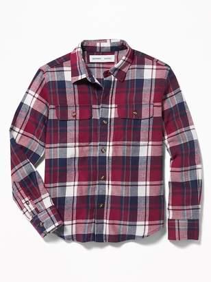 Old Navy Built-In Flex Plaid Flannel Pocket Shirt for Boys