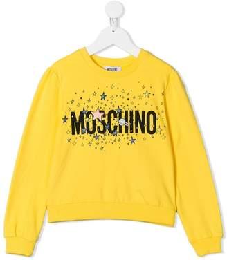 Moschino Kids TEEN logo print sweatshirt