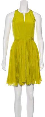 Rebecca Taylor Silk Pleated Dress
