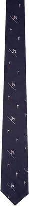 Thom Browne Navy Classic Skier Tie $230 thestylecure.com