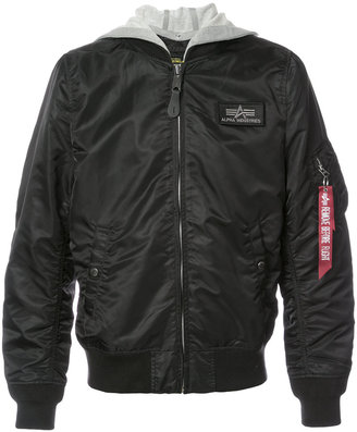 Alpha Industries L-2B Hooded Jacket $237.42 thestylecure.com