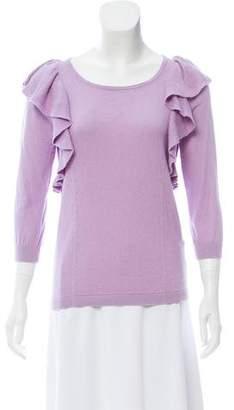 Tibi Ruffle Knit Sweater