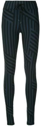 The Upside striped patterned leggings