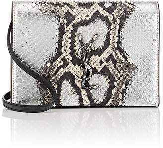 Saint Laurent Women's Monogram Kate Toy Python Strap Wallet