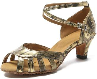 9561c94f4bf6 Miyoopark KL214 Women s Ankle Strap Synthetic Latin Salsa Tango Wedding  Sandals 8.5 US