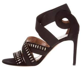 Alaia Embellished Crossover Sandals w/ Tags