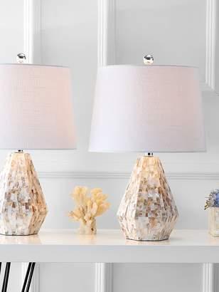 Isabella Collection JONATHAN Y Seashell Table Lamps (Set of 2)