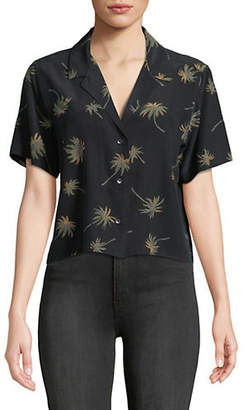 Rails Maui Vintage Palm Tree Silk Shirt