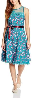 Almost Famous Women's Painted Floral Chiffon Dress
