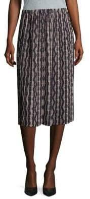 Loewe Pleated Knee-Length Skirt