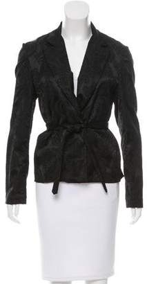 Tome Jacquard Fitted Blazer