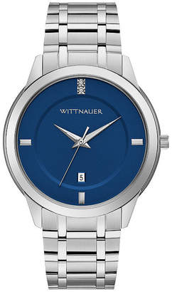 Wittnauer Mens Silver Tone Bracelet Watch-Wn3088
