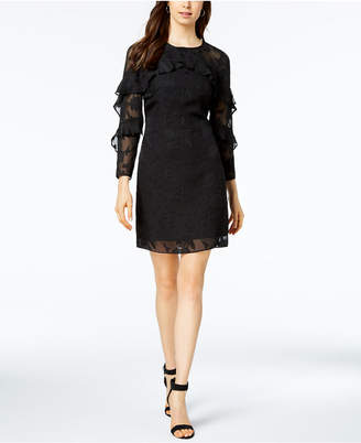 Nanette Lepore Nanette by Ruffled Clip Jacquard Shift Dress