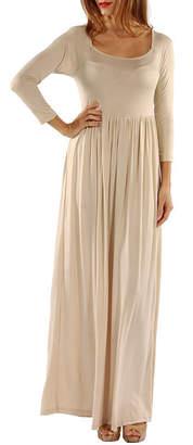 24/7 Comfort Apparel Figure Flattering Maxi Dress