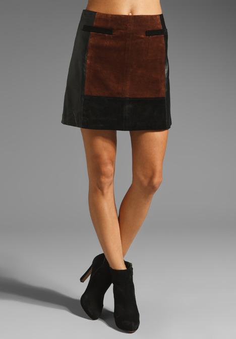 Nanette Lepore Leather Leisure Skirt