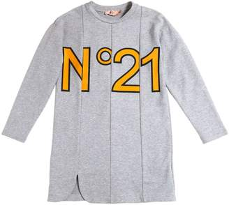 N°21 Logo Printed Cotton Dress