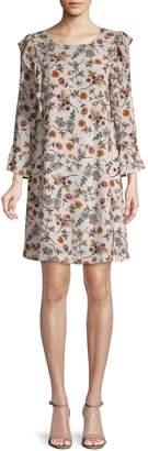Sanctuary Floral-Print Ruffle Shift Dress