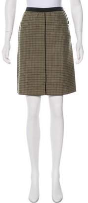 Derek Lam Houndstooth Wool Skirt