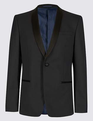 Marks and Spencer Navy Textured Slim Fit Jacket