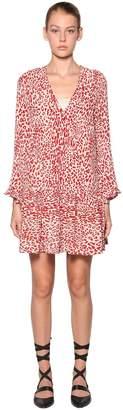 Baum und Pferdgarten Alda Leopard Print Crepe Mini Dress