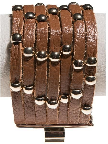 Cara Accessories Studded Leather Bracelet