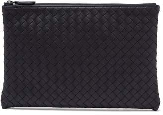Bottega Veneta Intrecciato Small Leather Pouch - Mens - Navy