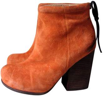 Jeffrey Campbell Orange Leather Ankle boots