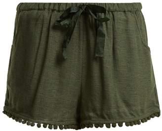 Figue Maja tassel-hem silk-blend shorts