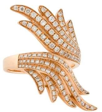 Anita Ko 18K diamond Feather Bypass Ring