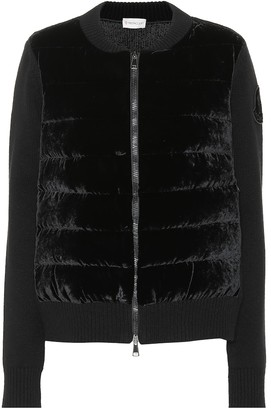Moncler Wool and cashmere-blend jacket
