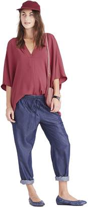 Hatch THE NOTCHED BLOUSE