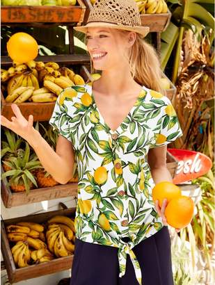 5bbc1a9cbc5fe M Co Lemon print button tie front top