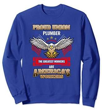 Plumber Union Working American Pride Sweatshirt