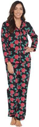 Beauty Sleep By Bedhead Beauty Sleep by BedHead Cotton Flannel Notch Collar Pajama Set