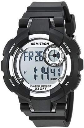 Armitron Sport Unisex 45/7093BLK Digital Chronograph Resin Strap Watch