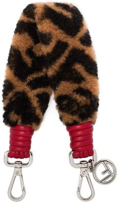 Fendi brown Mini Strap You shearling bag strap
