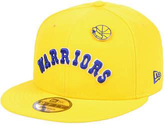 New Era Golden State Warriors Hardwood Classic Nights Pin 9FIFTY Snapback Cap