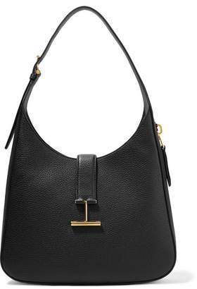 Tom Ford Tara Textured-leather Shoulder Bag - Black