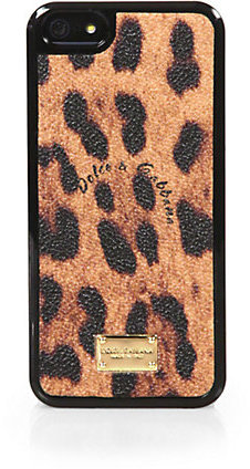Dolce & Gabbana Leopard-Print Coated Canvas Hardcase For iPhone 5