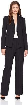 Le Suit LeSuit Women's Tonal Stripe 2 Bttn Notch Lapel Pant
