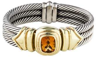 David Yurman Citrine Triple Cable Bangle